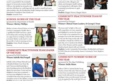 Community Practitioner Health Visitor Association 2014 Award WInners Page 2