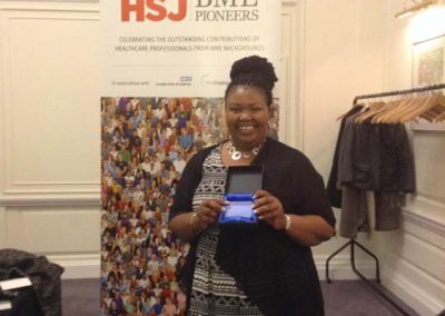 Health Service Journal BME Pioneer 12014 Award photo